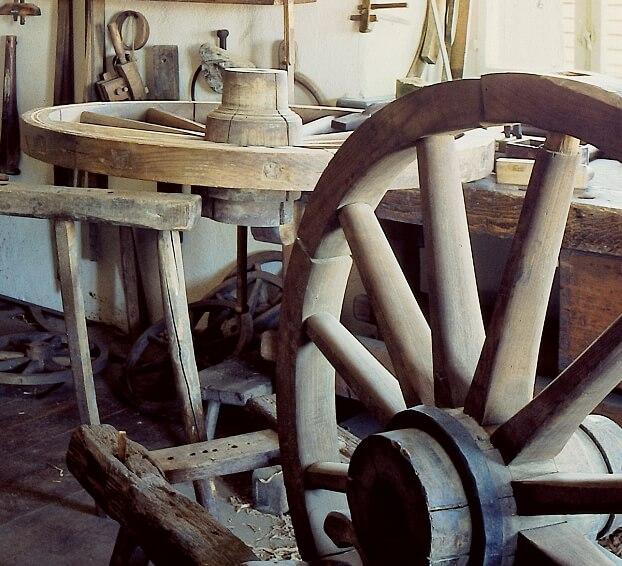 Stellmacherwerkstatt im Erzgebirgischen Freilichtmuseum